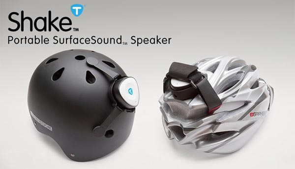 Shake SurfaceSound Portable Speaker for Your Helmet