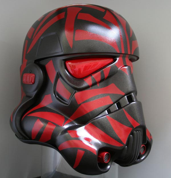 Sith Empire Stormtrooper Helmet Covered with Sith Tattoos