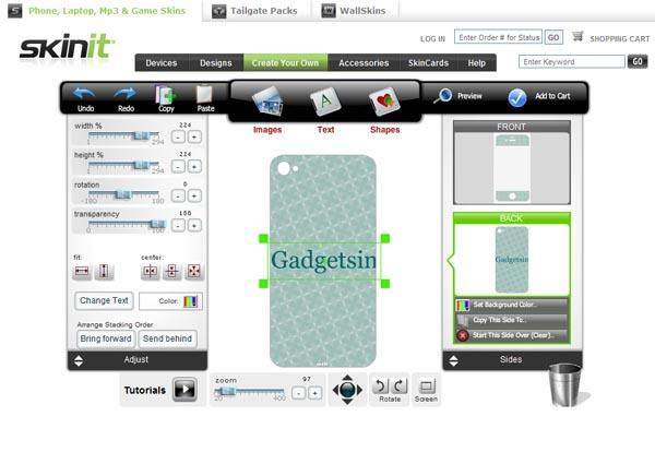 Skinit Custom iPhone 4 Skin
