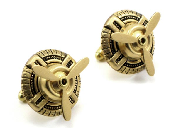 Sky Captain Steampunk Cufflinks