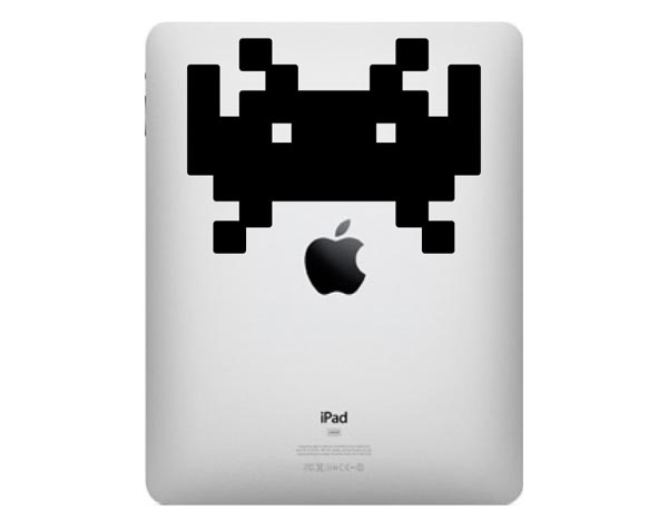 Space Invaders iPad Decal