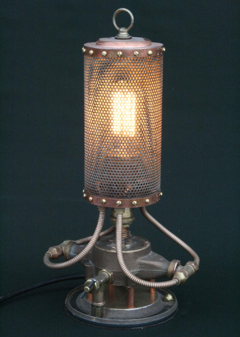 Steampunk Styled Found Art Lamps By Cory Barkman Gadgetsin