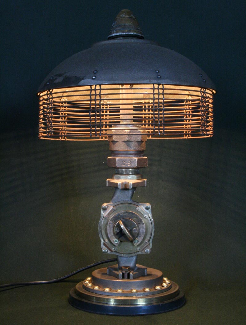Marvelous Steampunk Styled Found Art Lamps By Cory Barkman