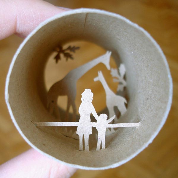 Toilet roll paper crafts gadgetsin for Paper roll projects