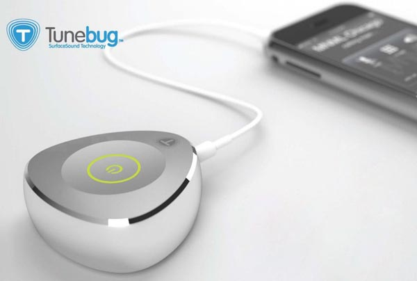 Tunebug Vibe SurfaceSound Portable Speaker