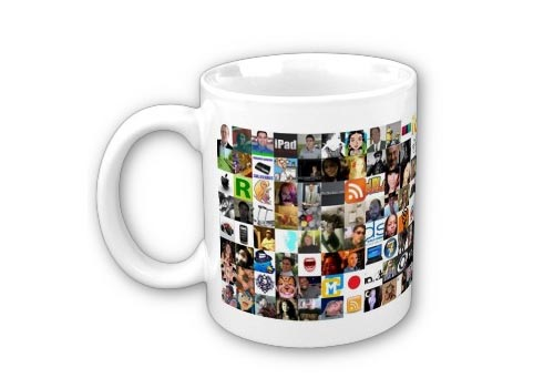 Twitter Mug Showing All Following People