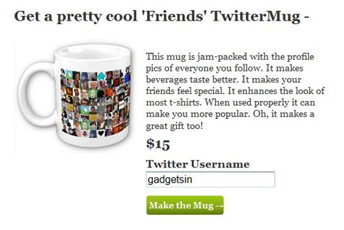 Custom Twitter Mug Showing All Following People