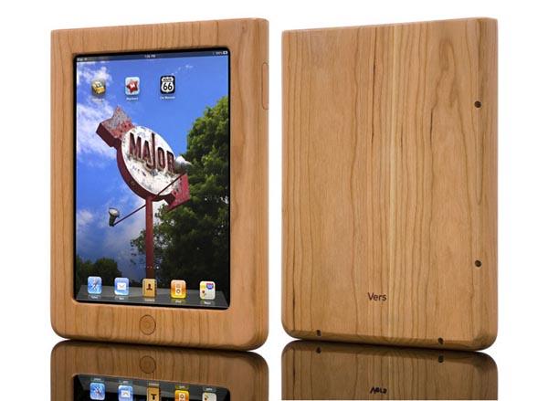 Vers iPad Wooden Case - Cherry Wood