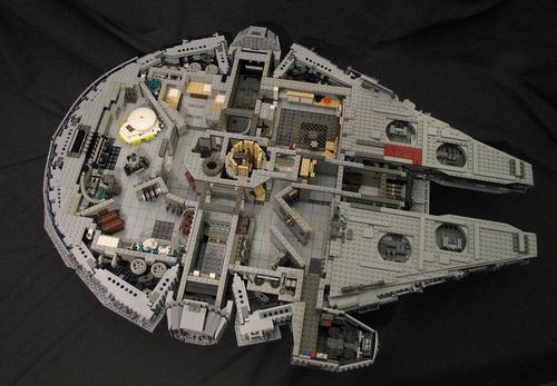 Star Wars LEGO Millennium Falcon with Full Interior