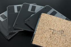 Handmade Floppy Disk Coaster