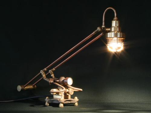 Steampunk Styled Found Art Lamps by Cory Barkman