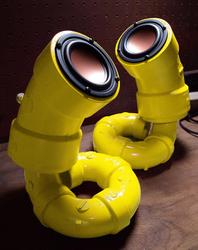 Handmade PVC Pipes Speakers