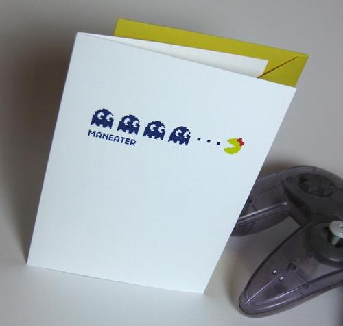 Ms Pacman Greeting Card