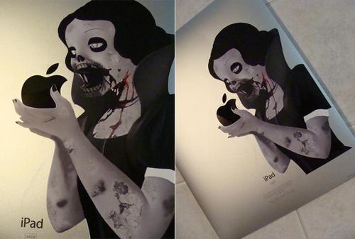 Zombie Snow White iPad Decal