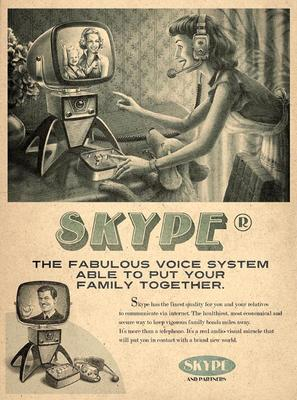 Retro Posters Themed by Facebook, Twitter, YouTube and Skype