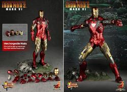 Hot Toy Iron Man 2 Mark VI Collectible Figure Limited Edition