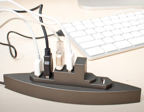 Battleship 5-Port USB Hub