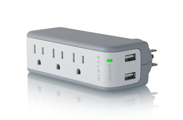 Belkin Mini Surge Protector Doubled as USB Charger