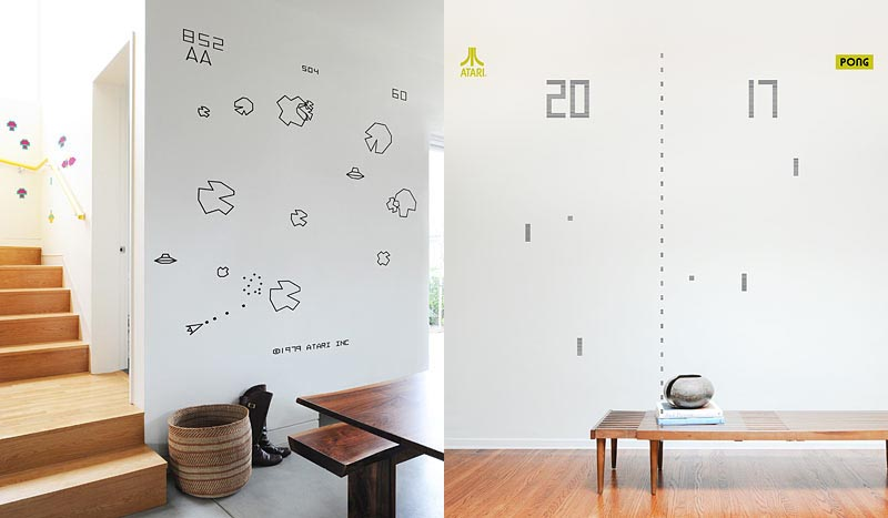 Classical ATARI Arcade Games Wall Decals Part 68