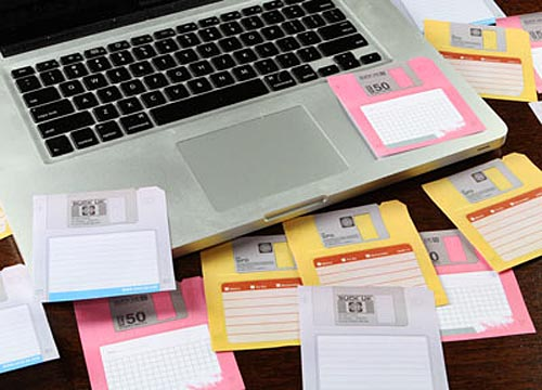 Classical Floppy Disk Sticky Notes