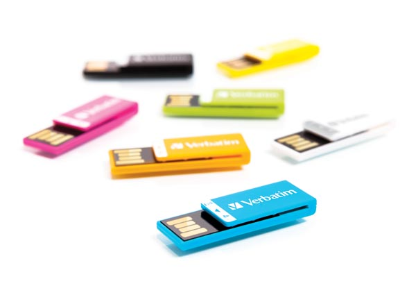 Colorful Verbatim Clip-It USB Flash Drive