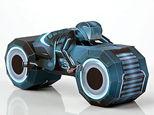 Disney Tron Legacy Paper Craft - Light Cycle