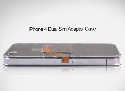 Dual SIM Adapter iPhone 4 Case
