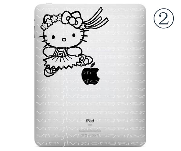 ipad Decal - Hello Kitty in Totoro Costume. From macappeal. Five Cute Hello Kitty ipad Decals