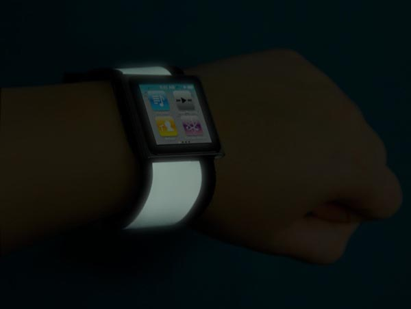 Handmade Glowing iPod nano Watch Band