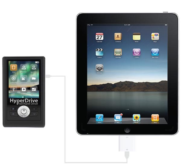 HyperDrive iPad External Hard Drive with LCD Screen