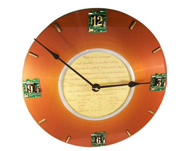 IBM Disk Platter Geek Wall Clock