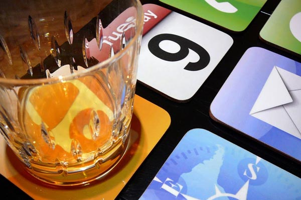 iPhone App Icons Coaster Set
