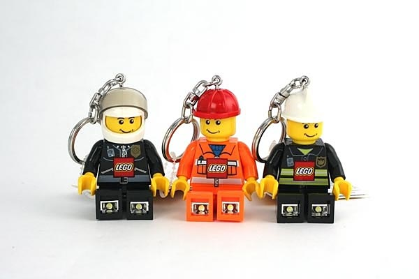 LEGO City Minifigure Flashlight Keychain