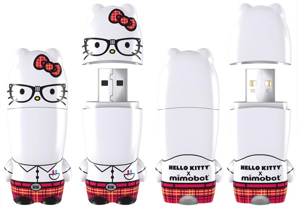 Nerd Kitty Hello Kitty Mimobot USB Flash Drive