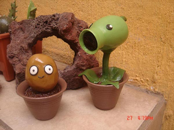 Plants vs Zombies Clay Figures