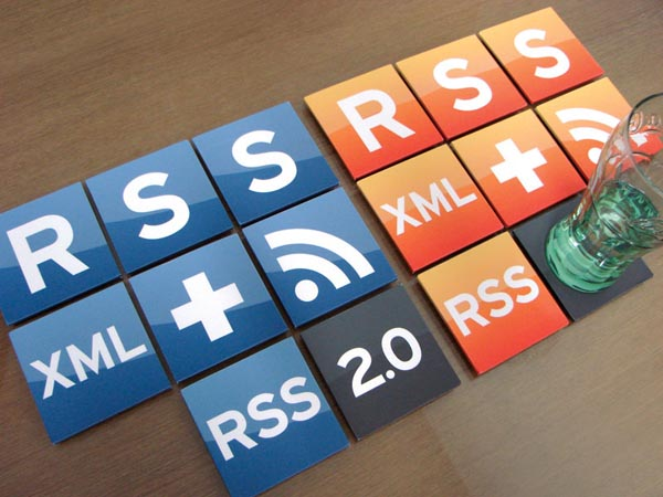 RSS Feed Icon Coaster Set