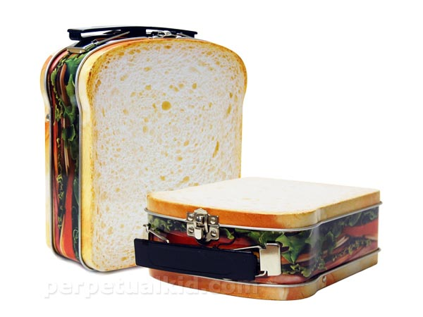 Sandwich Shaped Tin Lunch Box