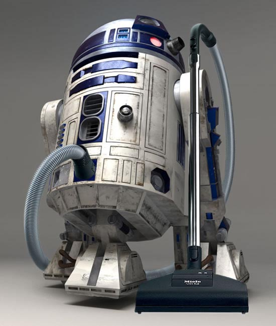 star wars r2 d2 robot vacuum cleaner gadgetsin. Black Bedroom Furniture Sets. Home Design Ideas
