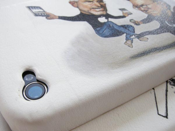 Steve Jobs vs Bill Gates iPhone 4 Leather Case