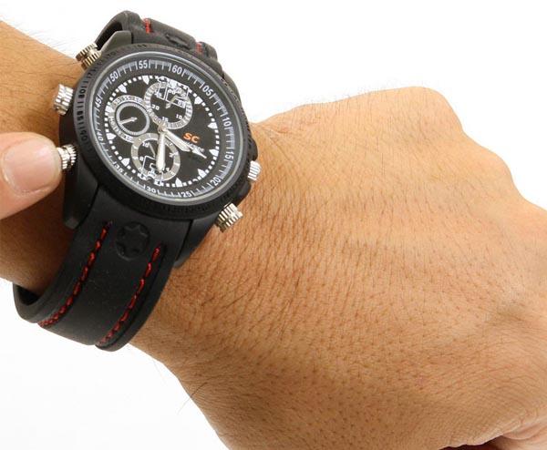 Thanko Waterproof Watch Integrated Hd Spy Camera Gadgetsin