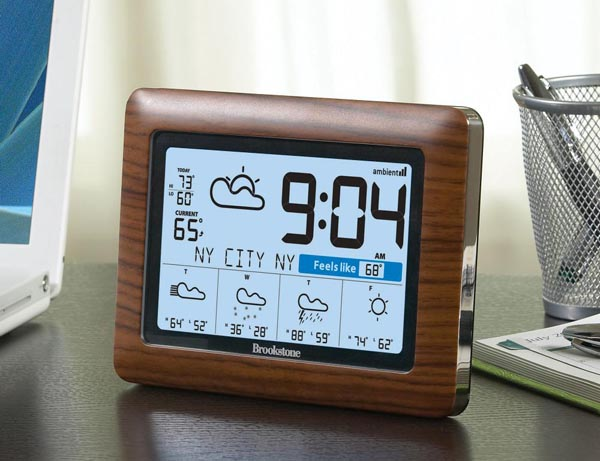 WeatherCast Wireless Weather Station and Clock | Gadgetsin