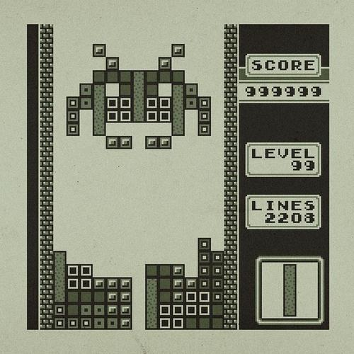 Space Invaders Invade Tetris