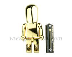 Glaring Golden Robot USB Flash Drive