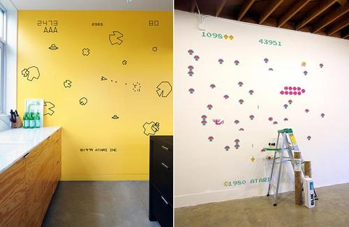Classical ATARI Arcade Games Wall Decals