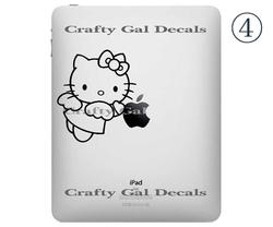 Five Cute Hello Kitty iPad Decals