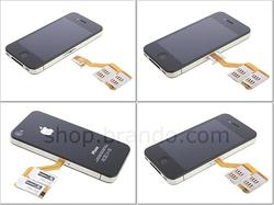 Triple Sim Adapter iPhone 4 Case