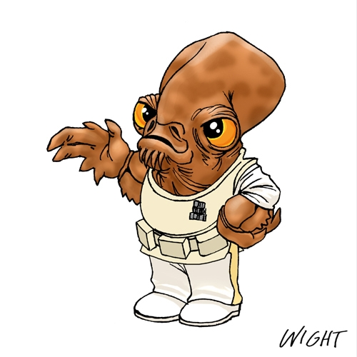 Star Wars Cartoon Characters Chibi Representing