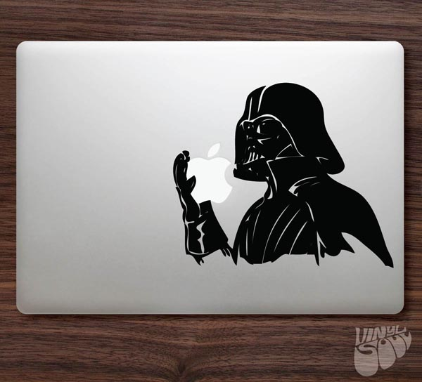 Darth Vader Like Eating Apple MacBook Decal