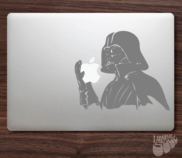 Darth Vader Like Eating Apple MacBook Sticker