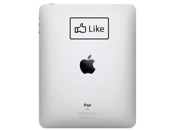 Facebook Like Dislike Buttons iPad Decals